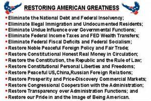 Restoring American Greatness.