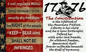 The Right To Keep and Bear Arms Shall Not Be Infringed.