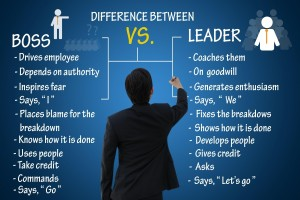The Difference between a Boss versus a Leader.
